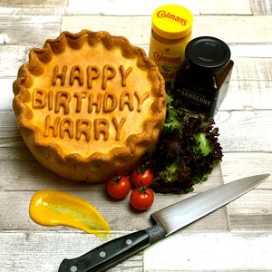 Personalised Pork Pie - food & drink