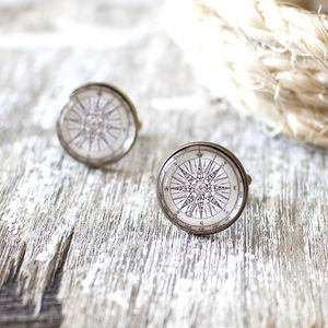 Vintage Compass Rose Cufflinks - jewellery sale