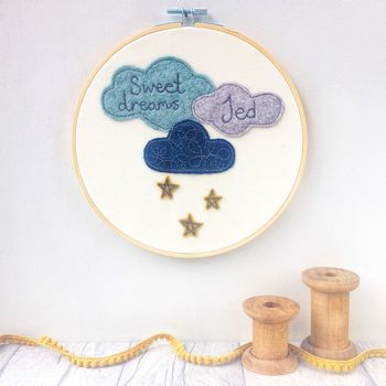 Personalised Sweet Dreams Stars Hoop