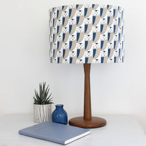 Owl Pattern Drum Lampshade