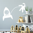 Personalised Astronaut Wall Sticker