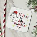 Personalised 1st Christmas As A Grandma Coaster