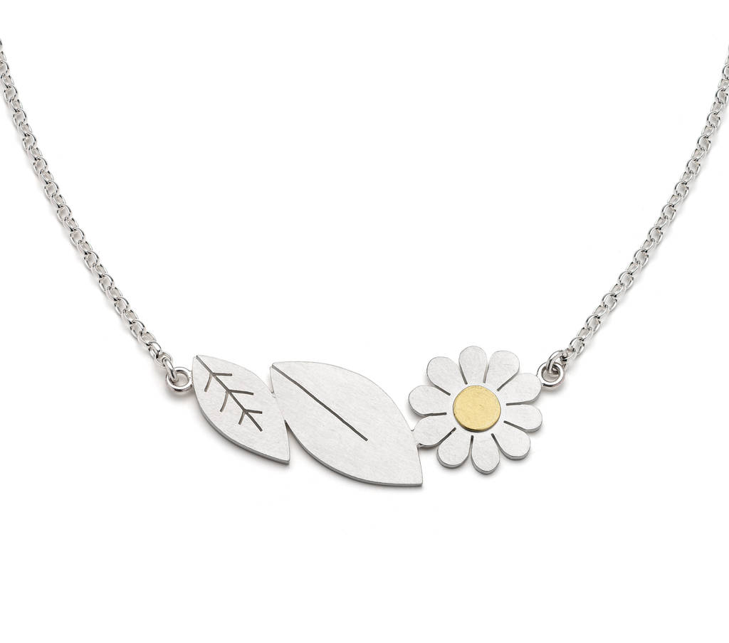 image jewellers part pendant jewellery the three finnies daisy sterling neckwear silver