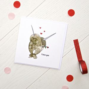 I Love You Greetings Card - love & romance cards