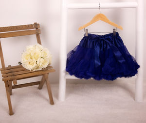 Navy Blue Pettiskirt - christmas party wear for children