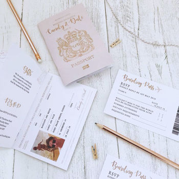 Wedding Passports And Boarding Passes
