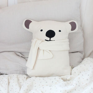 Baby And Child Polar Bear Cushion With Name