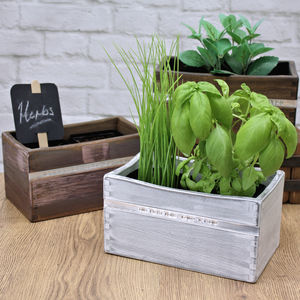 Personalised Wooden Indoor Planter