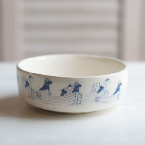 Sailing Sea Dogs Pet Bowl - dogs