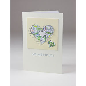 Lost Without You Personalised Card