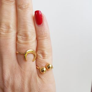 Gold Moon Ring - rings