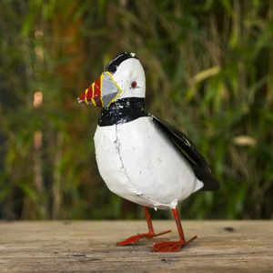 Puffin Handmade Recycled Metal Garden Ornament