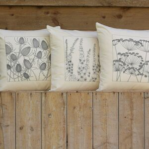 A Set Of Three Wildflower Cushion Covers