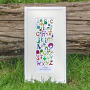 Personalised Dinosaur Alphabet Children's Print