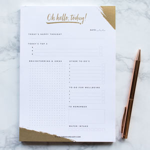 'Oh Hello Today' A5 Daily Notepad - notepads & to do lists