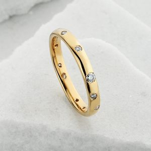 Slim Scattered Diamond Ring - wedding rings