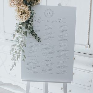 Botanical Table Plan - wedding stationery