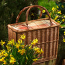 Personalised Amber Tartan Rectangular Chiller Basket