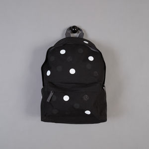 Polkadot Bagpack In Black - bags, purses & wallets
