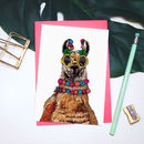 'Party Animal' Llama Greeting Card