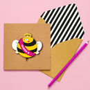Handmade Queen Bee Personalised Greeting Card