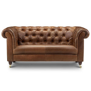 Chesterfield Leather Or Tweed Sofa Two Or Three Seater - furniture
