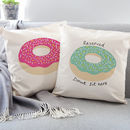 Donut Cushion, Choice Of Shape And Colour