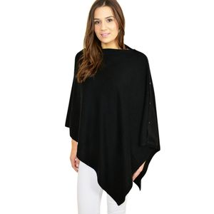 100% Pure Cashmere Button Poncho Wrap In Gift Box