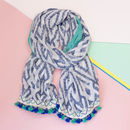 Diamond Wave Pattern Beach Scarf