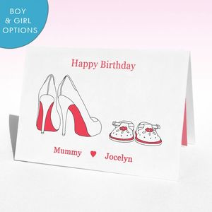 Personalised Shoes Birthday Card - mother's day cards & wrap