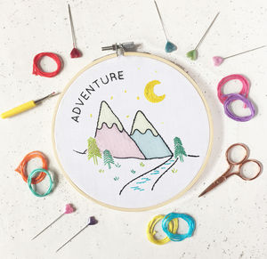 Adventure Embroidery Craft Kit