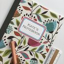 Recycled Personalised Patterned Notebooks