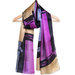Large 'Chopin' Pure Silk Scarf - scarves