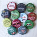 Fun Christmas Badge Sets For Adults And Children
