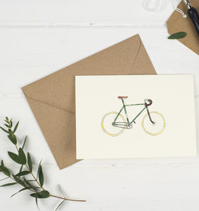 Single Speed Bicycle Card