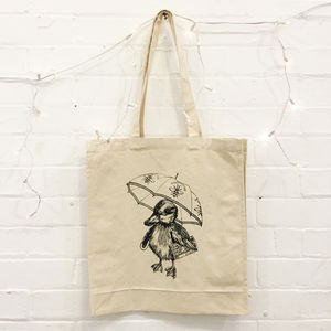 Manchester Duck Screen Printed Tote Bag