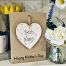 Personalised Mother's Day Nana Wooden Keepsake Card
