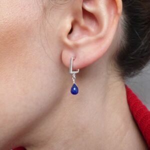 Lapis Lazuli Square Earrings