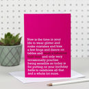 'Work A Fabulous Heel' Birthday Card