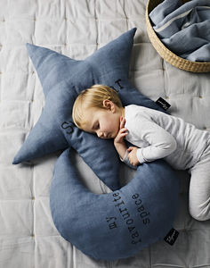 Large 'My Favourite Space' Moon Cushion - cushions