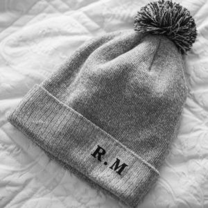 Personalised Initials Pom Pom Beanie Hat - hats & gloves