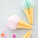 Ice Cream Honey Comb Decorations