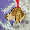 Beagle Wooden Christmas Decoration