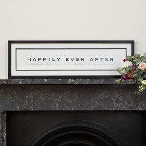 Happily Ever After Vintage Frame
