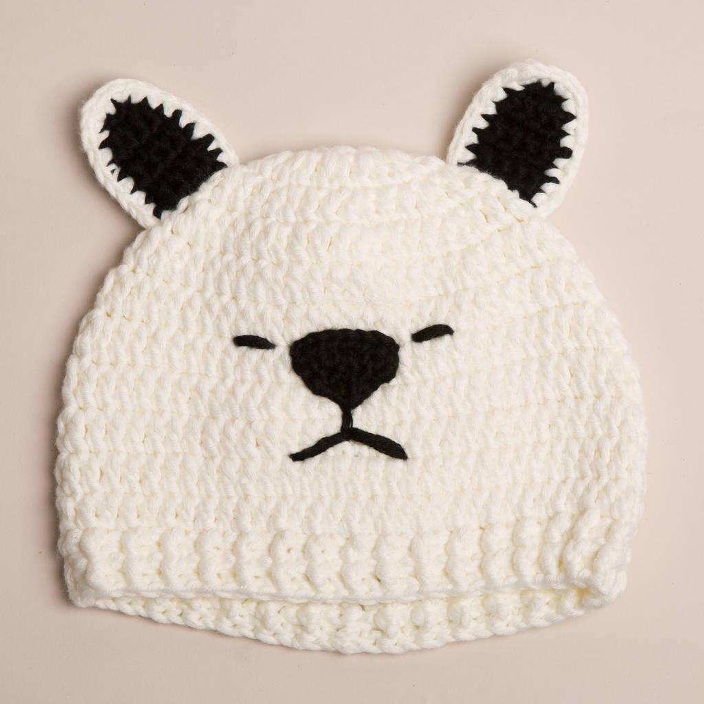 92516cedc2a polar bear baby hats by attic