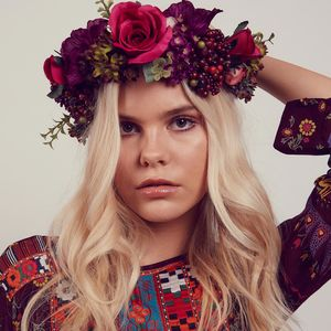 Agnes Oversized Floral Berry Crown Headband - festival season
