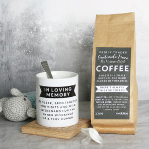 Personalised First Father's Day Mug And Coffee Gift Set