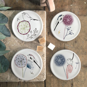 Dandelion And Birdy, Bone China Coasters - kitchen