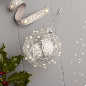 Pearl Glass Bauble - christmas decorations