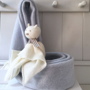 New Mother Cashmere Shrug And Bear Gift Set